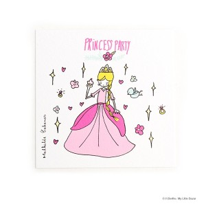 Invitations Princesse Birthday parties by Mathilde Cabanas