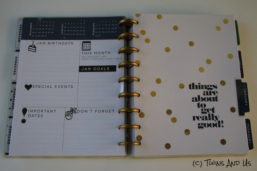 Vue Mensuelle Intercalaire The Happy Planner