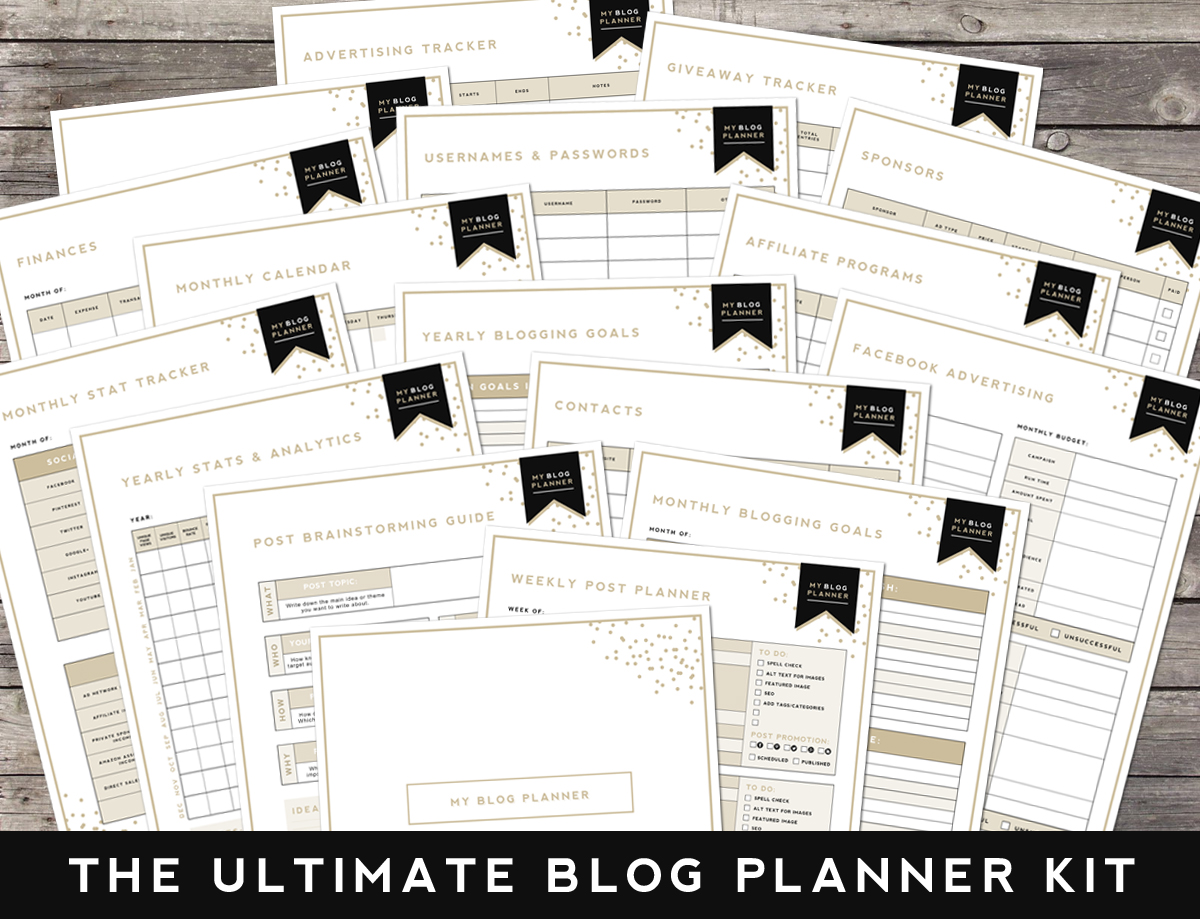 Blog Planner Designer Blogs