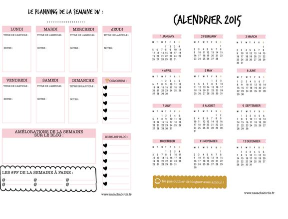 Blog Planner Natacha Birds