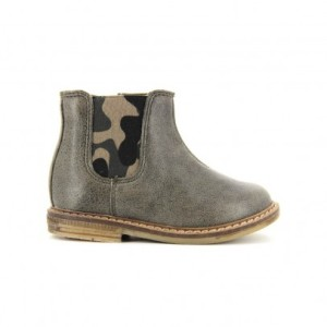 Bottines Aviator Retro Jodzip Gris Pom d'Api
