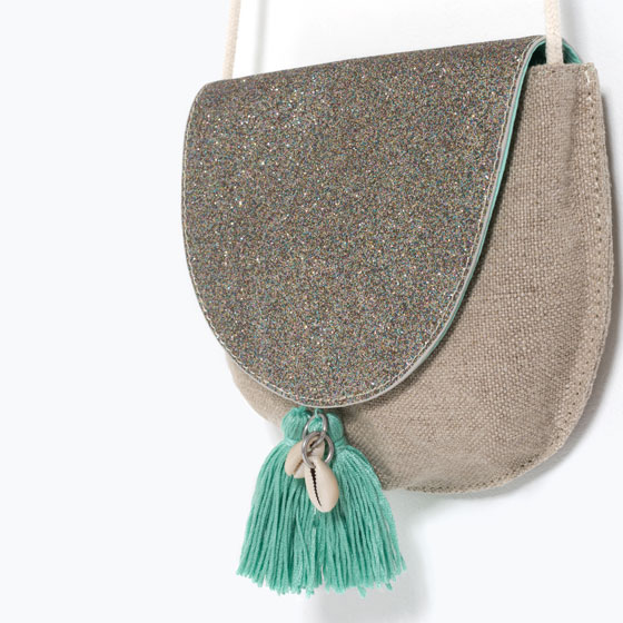Sac à Paillettes & Pompoms ZARA KIDS