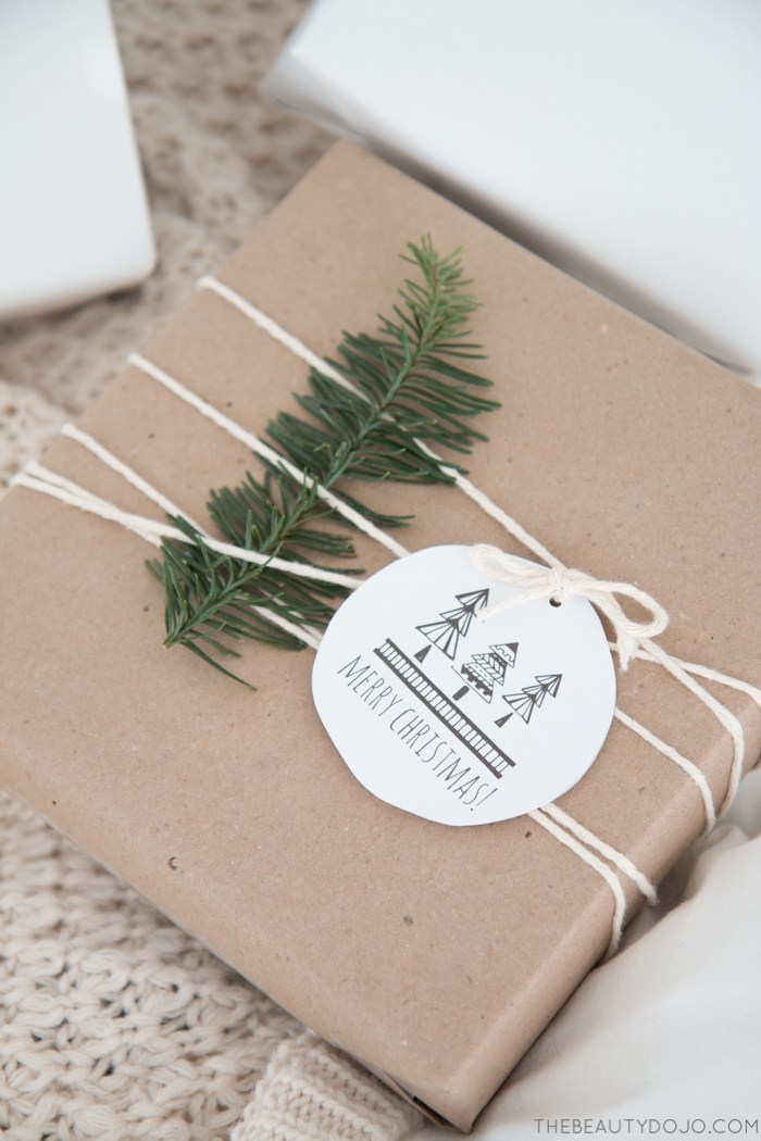 Free Printable Etiquette Cadeau Noel Scandinave - The Beauty Dojo
