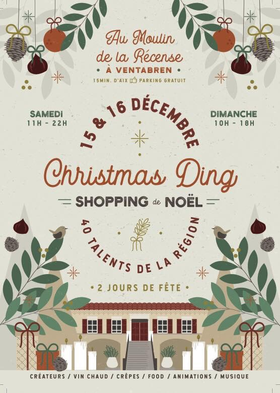 Affiche, Le Shopping de Noe, Christmas Ding 2018, Moulin de la Récense